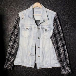 Other - custom denim/flannel jacket size L/XL